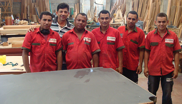 With my friends in the pool table factory in Caucasia