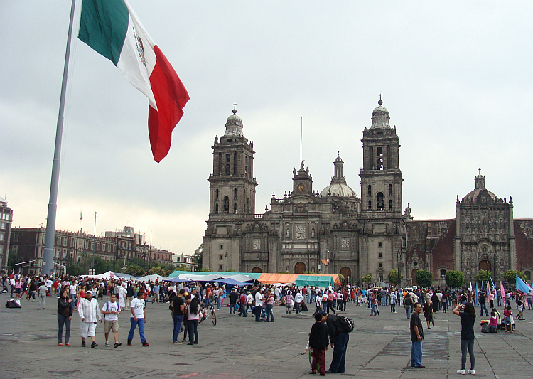 The Zócalo, the central square of Mexico City