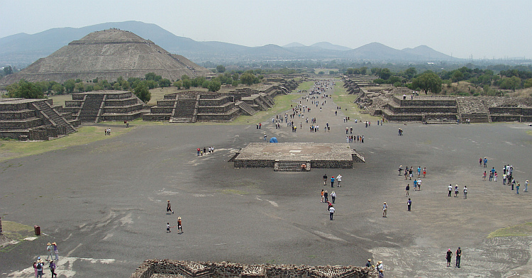 The Aztec pyramids of Teotihuacán
