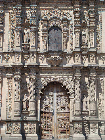 Detail of the cathedral of San Luis Potosí
