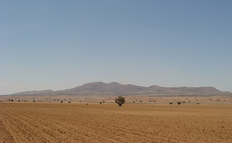 Landschap in Centraal Mexico