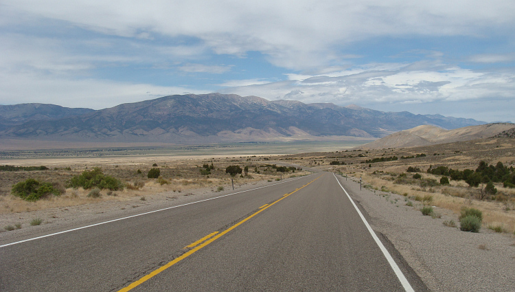 Highway 50 near the Great Basin National Park