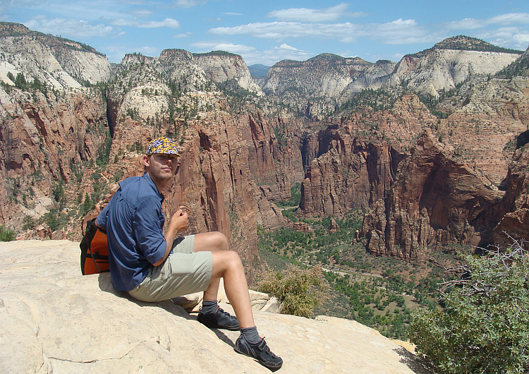 Frank on Angels Landing, Zion National Park