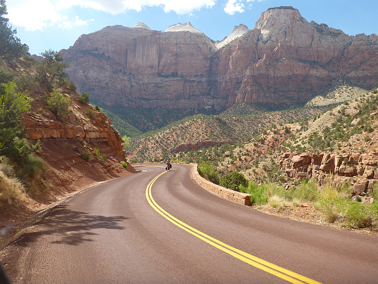 Frank on the Zion-Mt Carmel Highway, Zion National Park