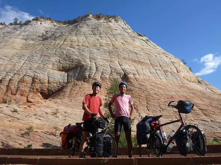 Two cyclists, Zion National Park