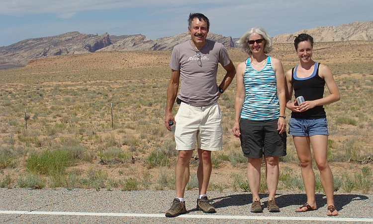 American family between Hanksville and Green River