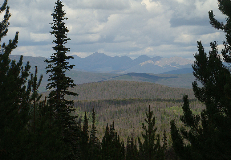 Landscape between Granby and Rand in the Rocky Mountains