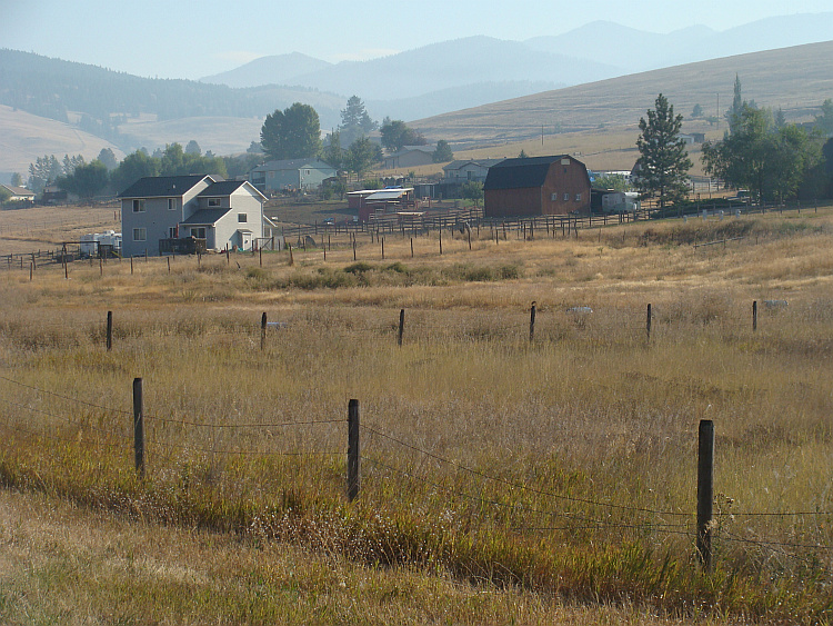 Landscape between Missoula and Evaro