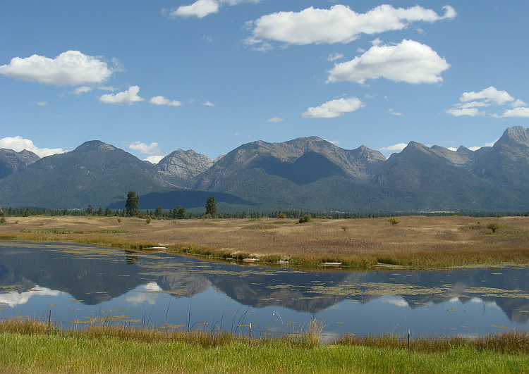 The Mission Mountains near Ronan, Montana