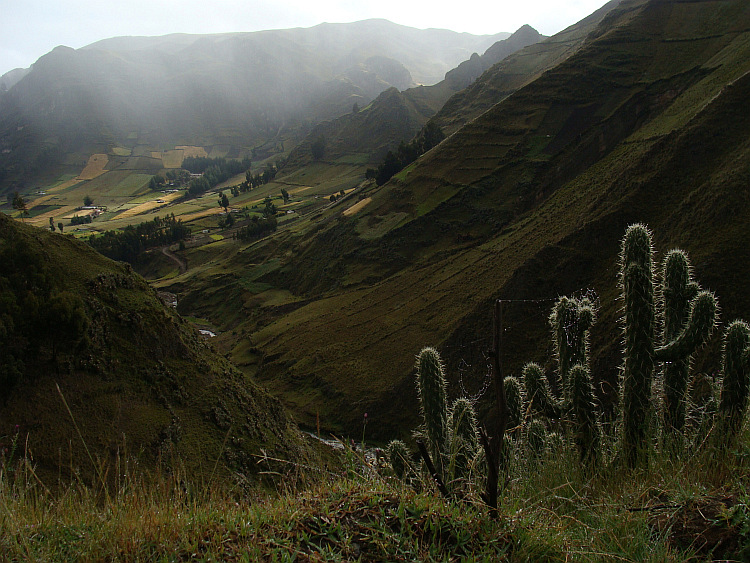 The Quilotoa Loop between Zumbahua and Latacunga