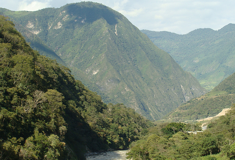 At the begin of the ascent from Bagua Grande to Chachapoyas