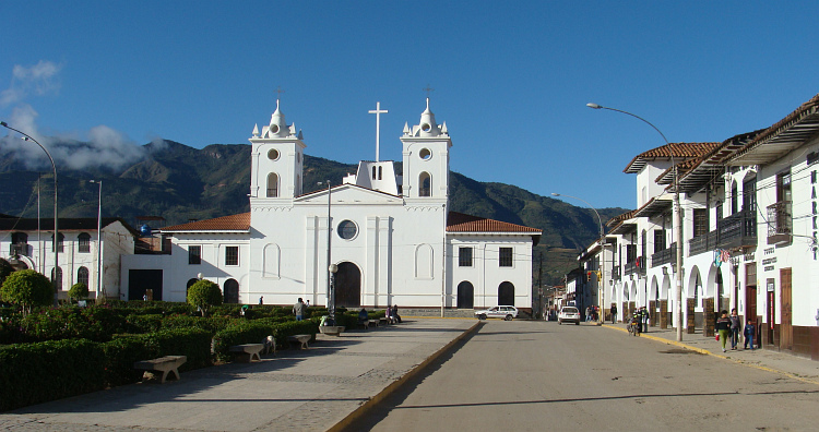 The Plaza de Armas in Chachapoyas