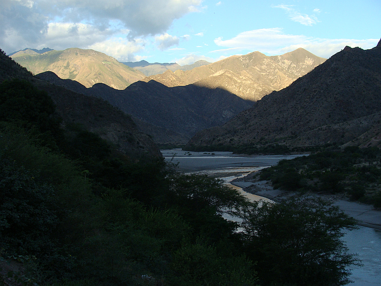 The valley of the Marañón river