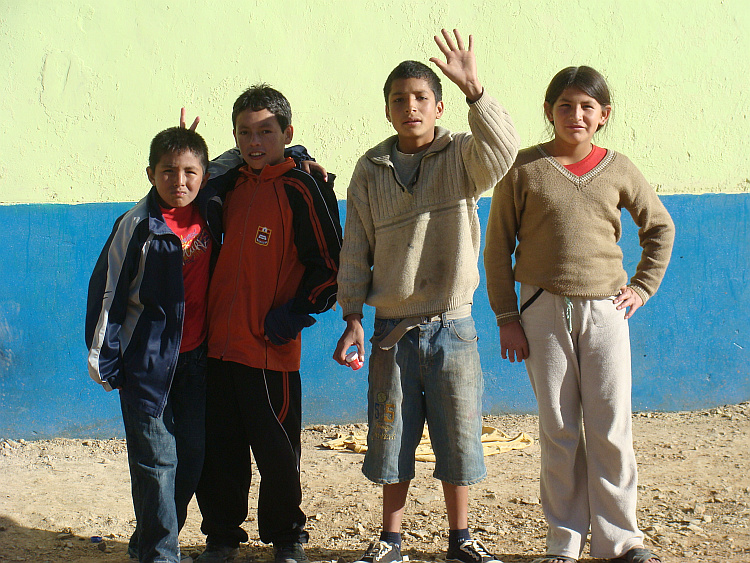 Children in Celendín