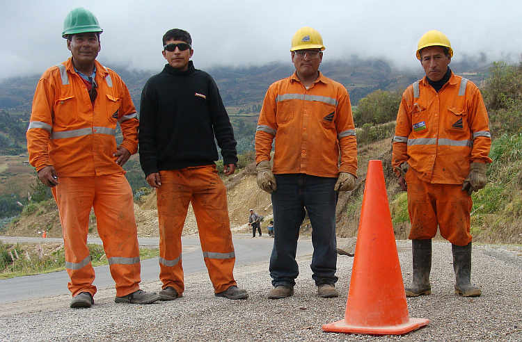 Road workers in northern Peru, near Huamachuco