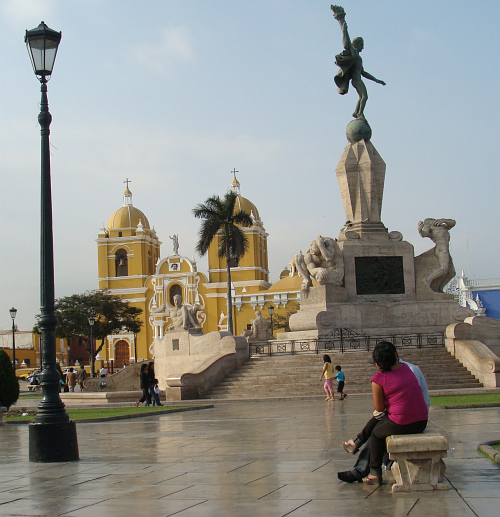 The Plaza de Armas of Trujillo