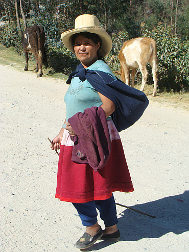 Woman in the cordillera