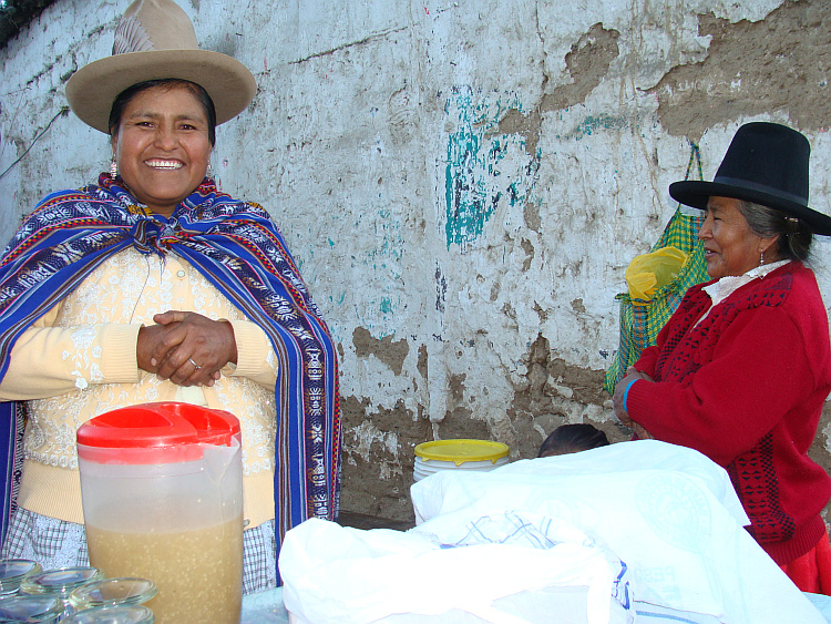 Women selling quinoa in Carhuaz