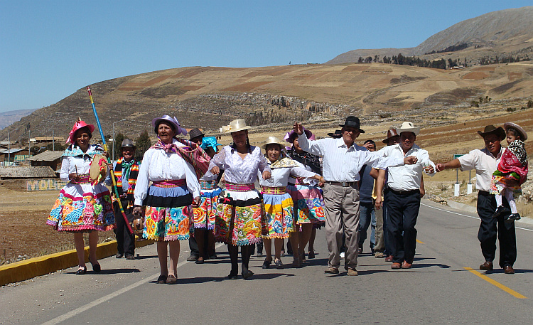 Procession in the highlands of Central Peru