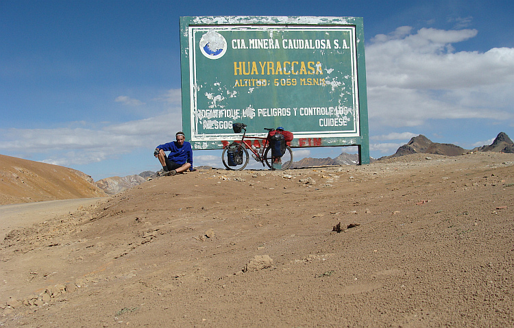 The Abra Huayraccasa at more than 5.000 (??) meter altitude