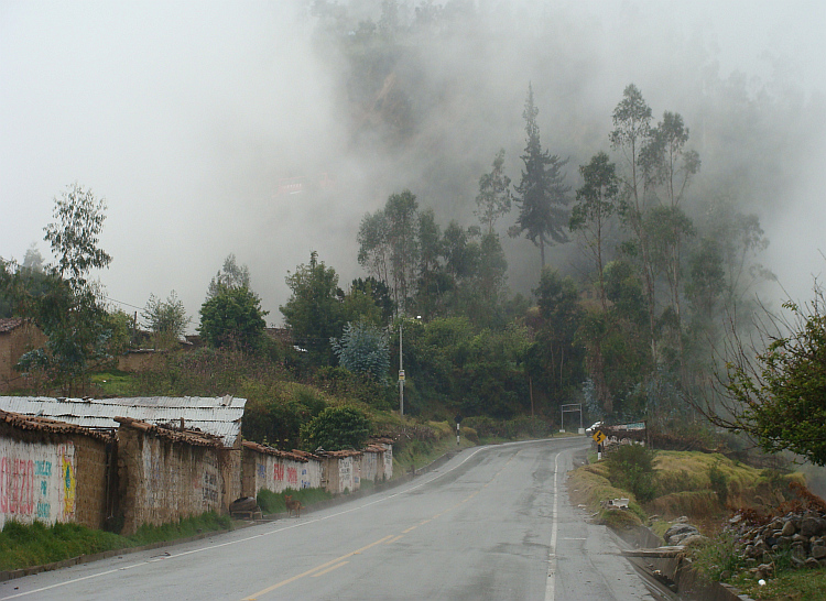 Rain between Abancay and Limatambo