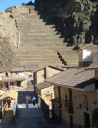 The Inca city of Ollantaytambo