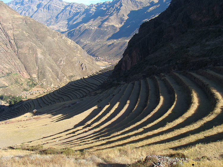 The Inca terraces of Pisac