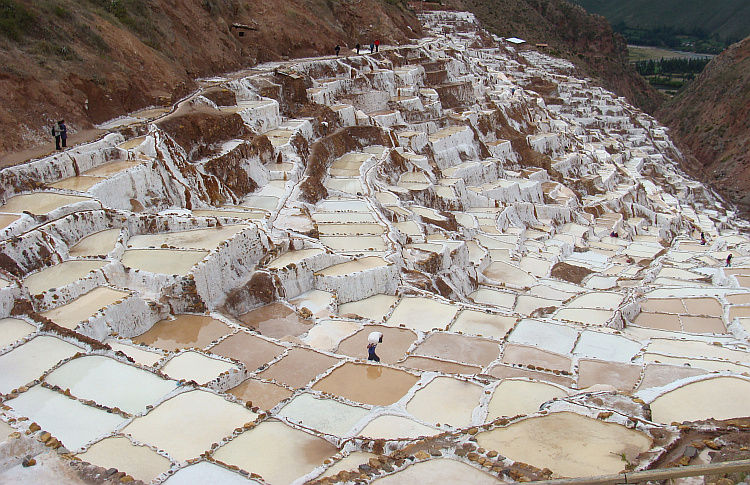 Salt mining, using age old Inca techniques in the Salinas