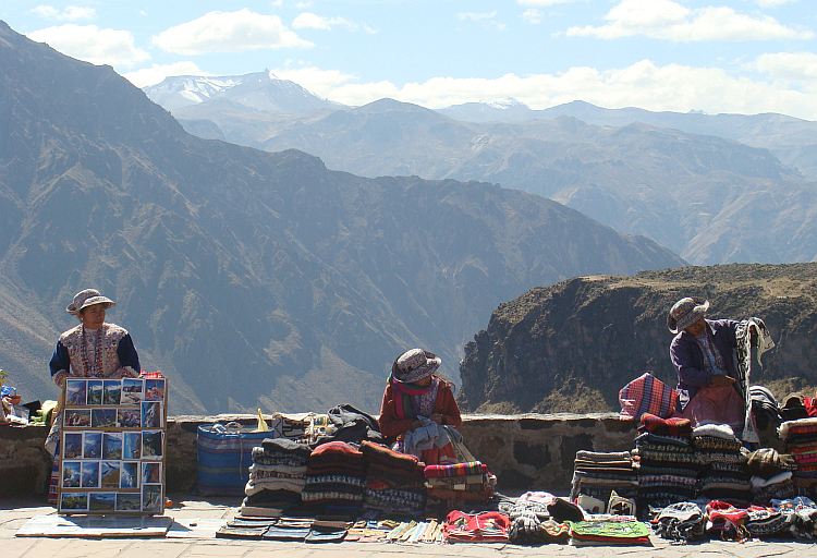 Saleswomen in the Colca Canyon