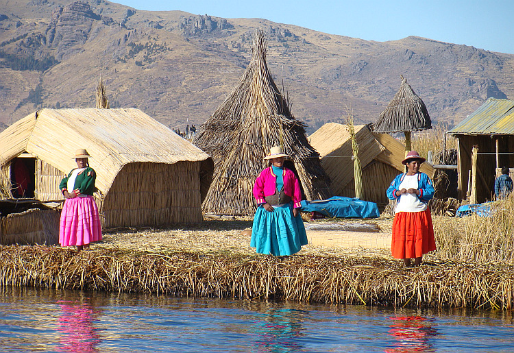 The Uros, the floating reed islands of Lake Titicaca