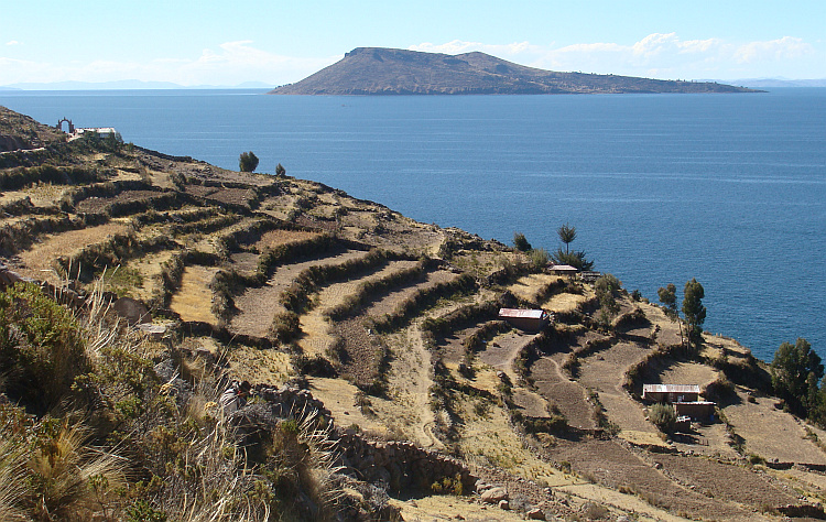 The Isla Taquile, island in Lake Titicaca
