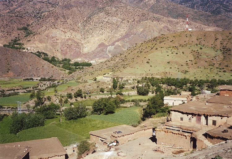 View over a village, High Atlas