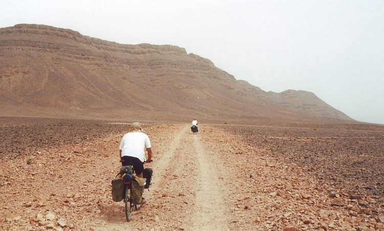 Marco and Willem on the Road from Zagora to Tazzarine