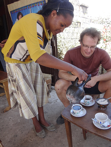 Our first coffee ceremony