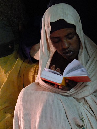Boy With Bible in Lalibela