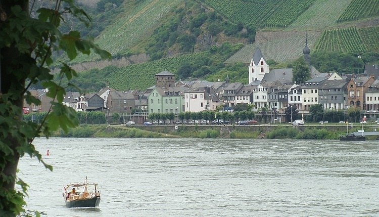 Kaub and the river Rhine