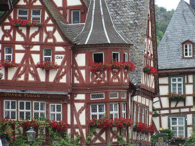 Houses in Bacharach, Germany