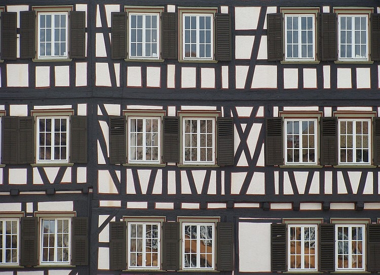 Detail of a house in Schwäbische Hall, Germany