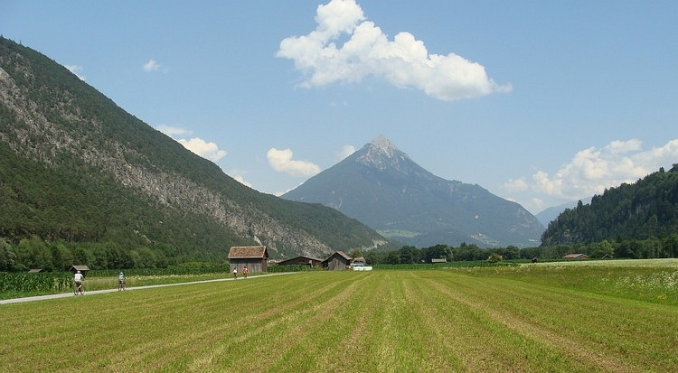 The Inn Valley near Landeck, Austria