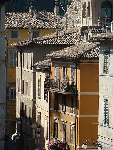Houses in Spoleto, Umbria