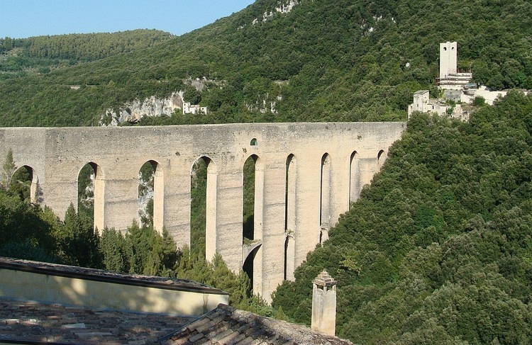 The mediaevil bridge of Spoleto
