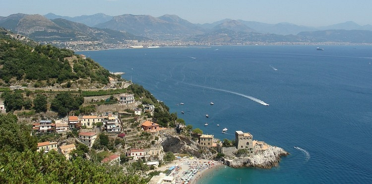 The Amalfi Coast and the Golfo di Salerno