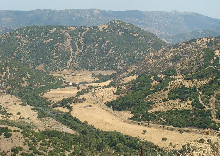 Hot and deserted valley, Southern Sardegna