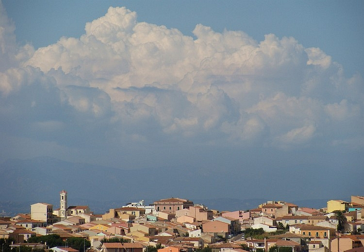 Santa Teresa, Sardegna. In the background the mountains of Corsica can be seen