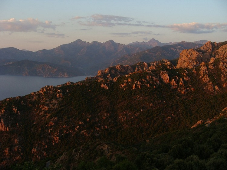 Sundown at Les Calanches. Piana, Corsica