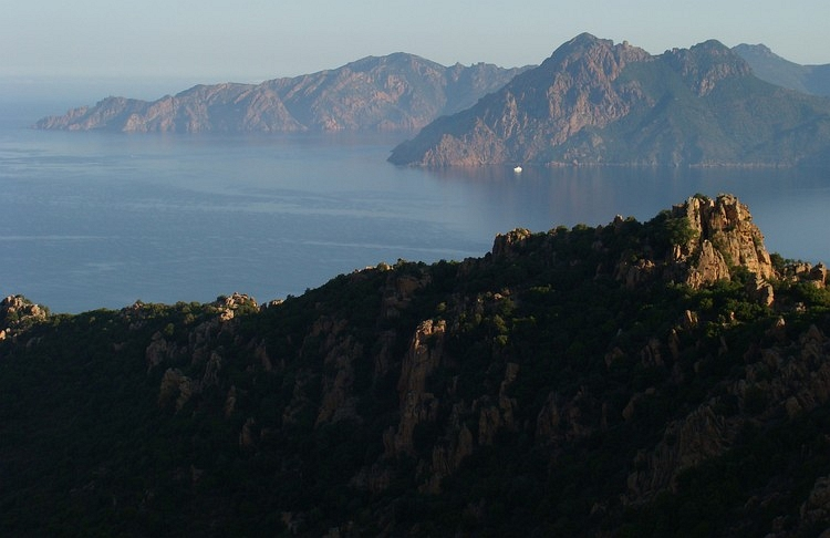 Les Calanches in the early morning. Piana, Corsica