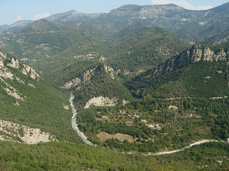 Looking down the Esteron Valley, Alpes Maritimes
