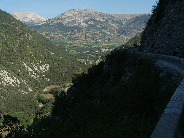 View down the Verdon Valley on the descent of the Col de la Colle St Michel (1.455 m)