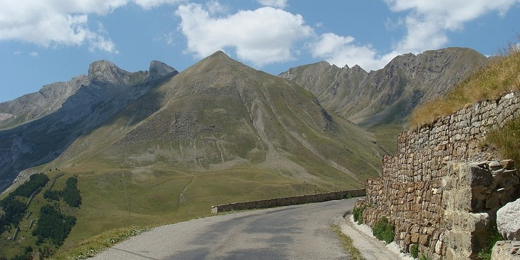 Landscape towards the Col d'Allos