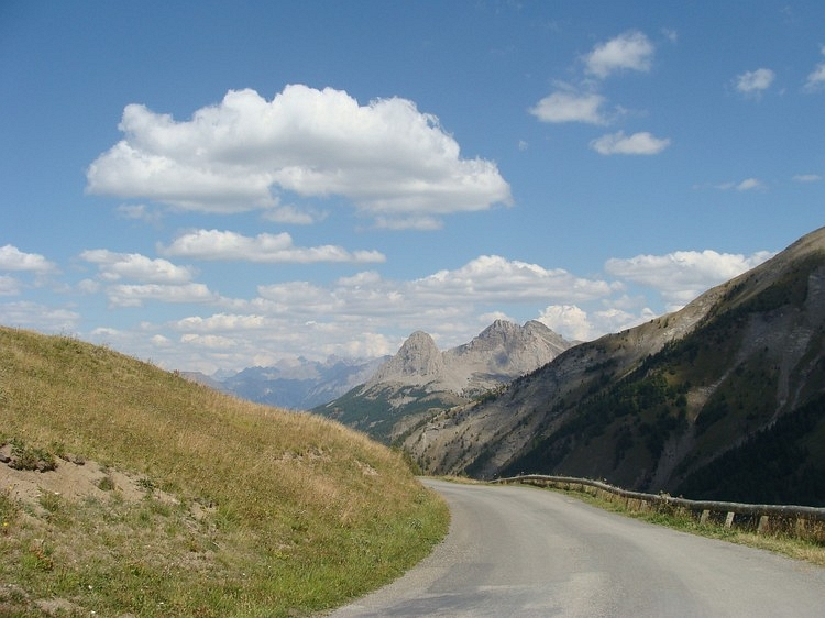 On the way down from the Col d'Allos to Barcelonnette